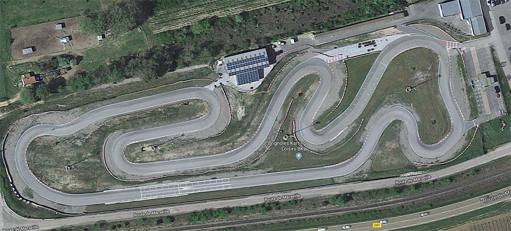 Photo du tracé du circuit de karting de Brignoles dans le Var
